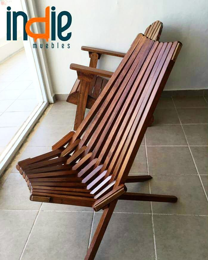 Silla de playa modelo: Bois. Excelente calidad de madera (Tzalam ...