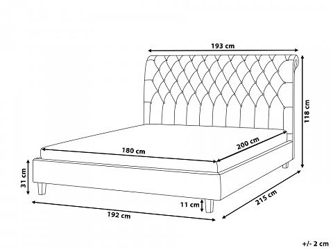 Bed Super King Size Bed Frame Upholstered 180x200 Cm Beige Reims 676205 King Size Bed Frame Super King Size Bed Wooden Bed Design