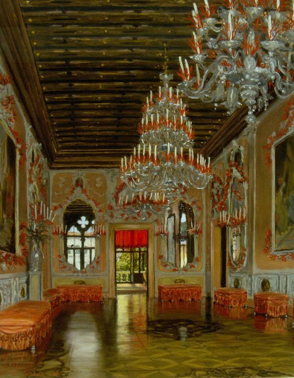 Palazzo Brandolini, Venice, The Coral Ballroom, interior ...