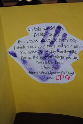 Grandparent's Day card idea #grandparentsdaygifts