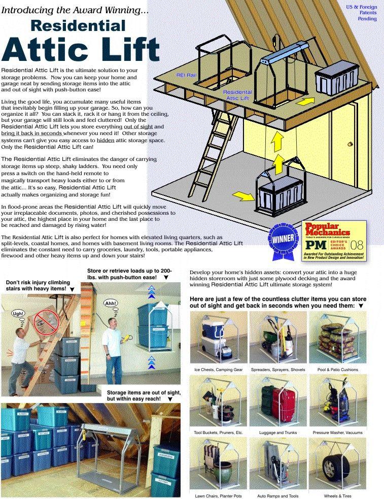 Your Residential Attic Lift Company Attic Lift Attic Flooring Attic Renovation
