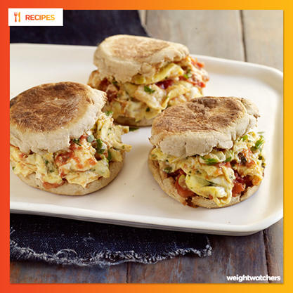 Mexican Scrambled Egg Sandwiches (5 Points ) | Weight Watchers Recipes