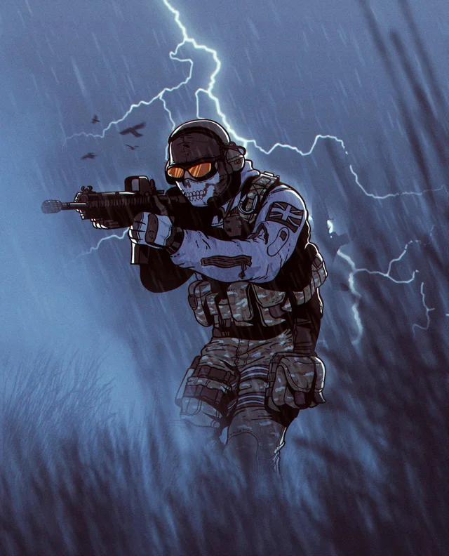 Ghost fan art by me. modernwarfare in 2020 Military