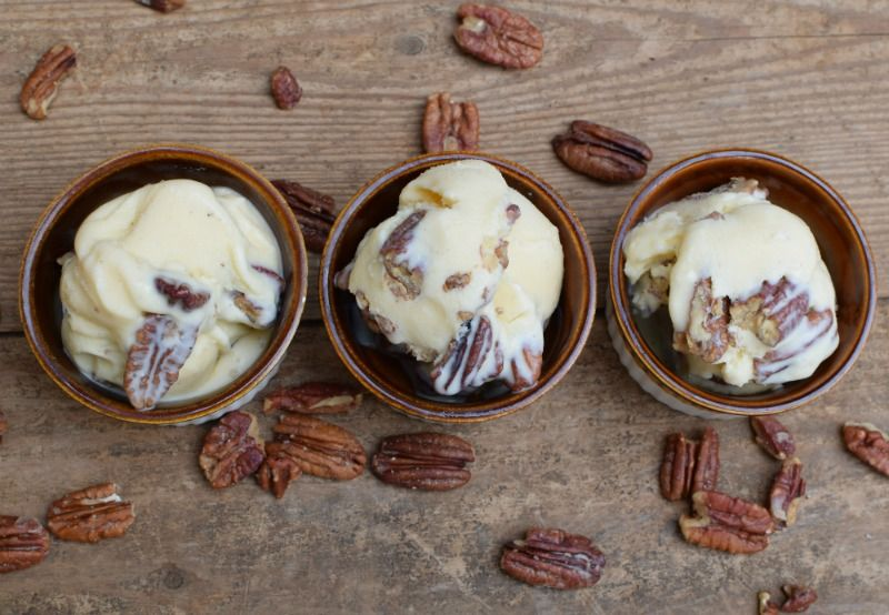 Discover the magical combination of lightly butter-toasted pecans and the creamy goodness of ice cream. This recipe for butter pecan ice cream is easy!