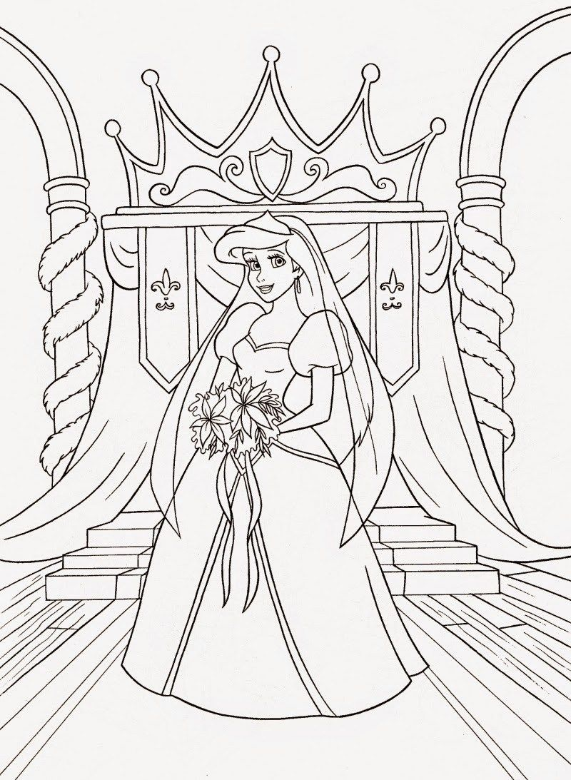 49+ Princess ariel christmas coloring pages information
