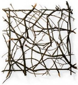Arts and Design: Twigs and Branches as Unique Source of Art #twigart Twig Art by Paul Schick #twigart