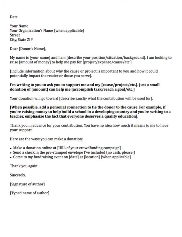 Sample Letter Asking For Donation template Pinterest
