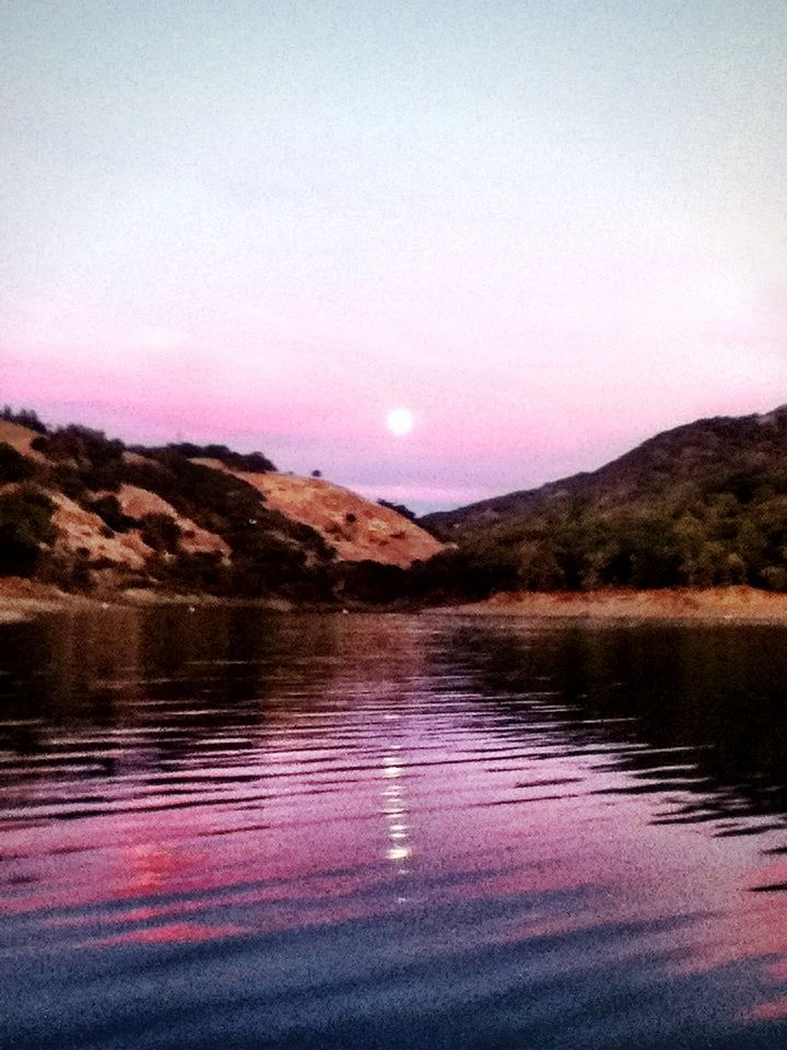 Moon rise lake mendocino with images places to