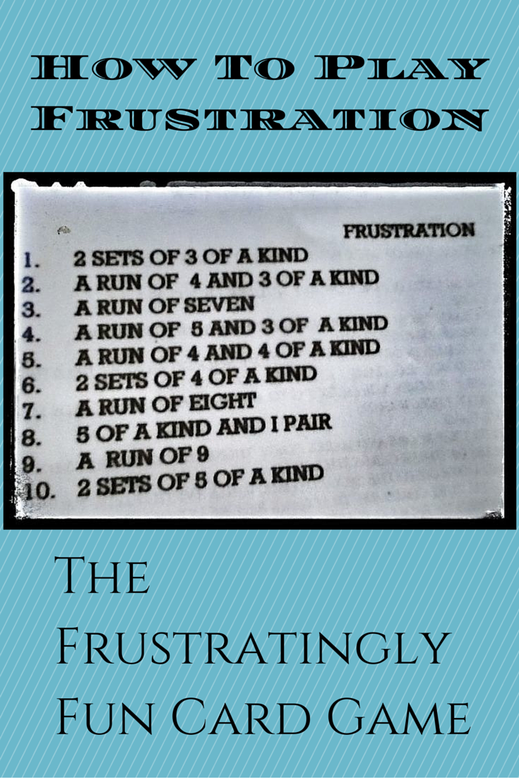 frustration card game rules for camping and family fun top pins