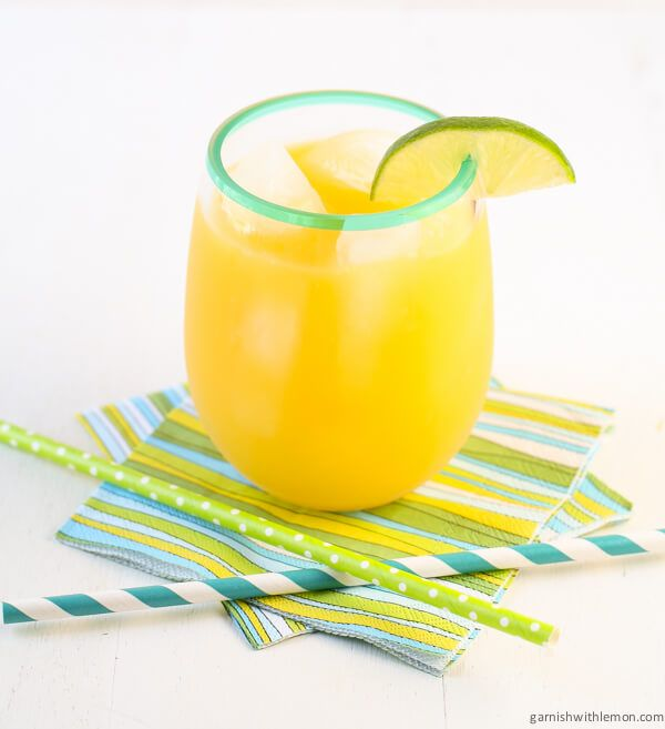 Serve this simple and refreshing non-alcoholic Mango Ginger Agua Fresca at your next backyard BBQ.