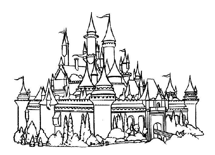 Online Castle Coloring Pages Free - Enjoy Coloring