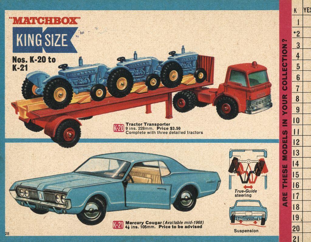1968-xx-xx Matchbox Collector's Catalogue P028 | Matchbox