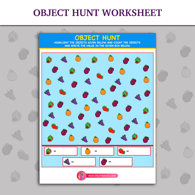 Object Hunt Worksheet | Inky Treasure | Free Printable Puzzles for ...