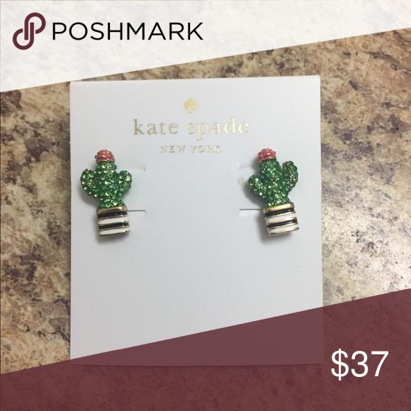 Kate Spade Cactus Earrings Nwt Nwt Kate Spade Jewelry Earrings My