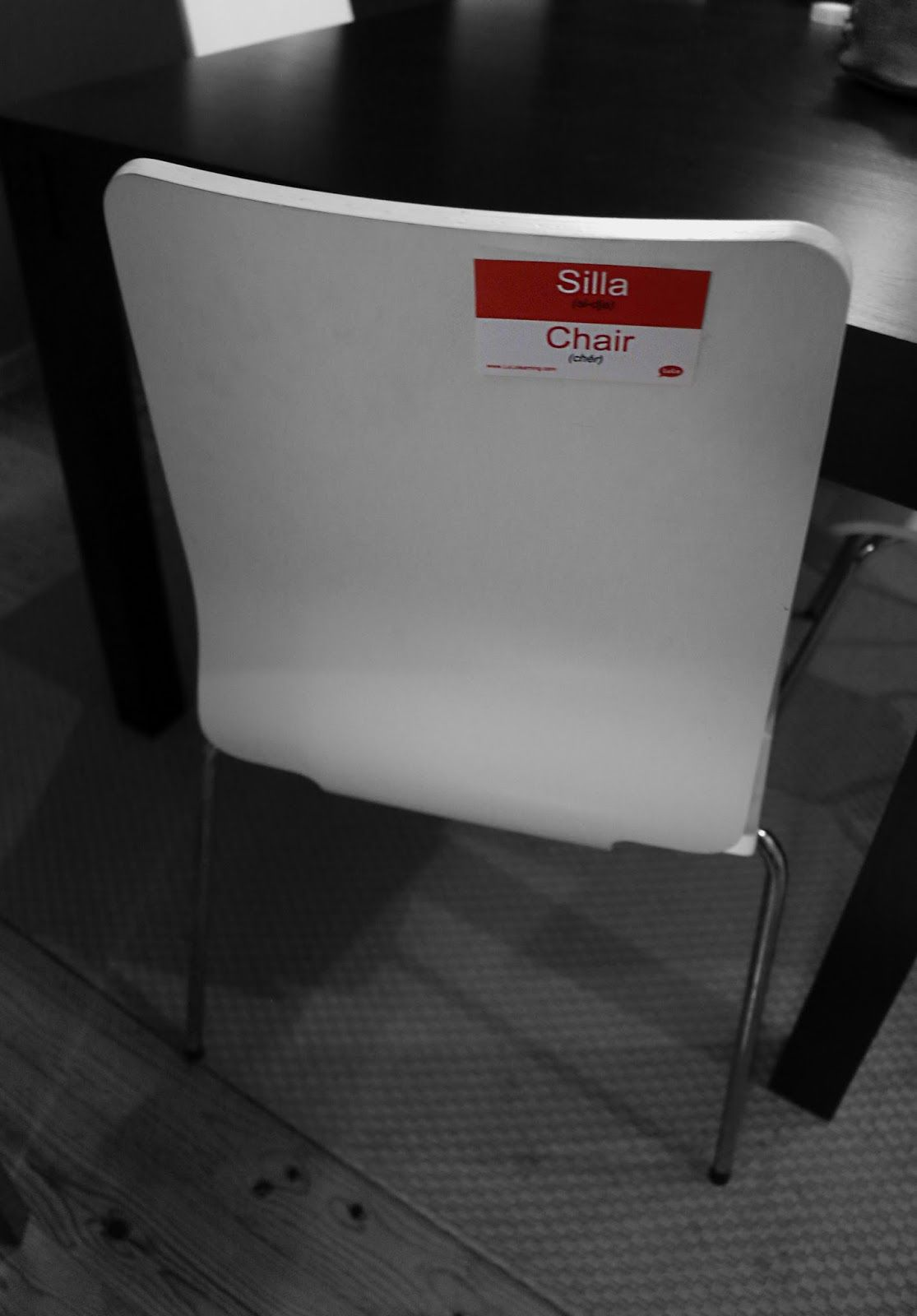 Silla En Ingles Chair In Spanish