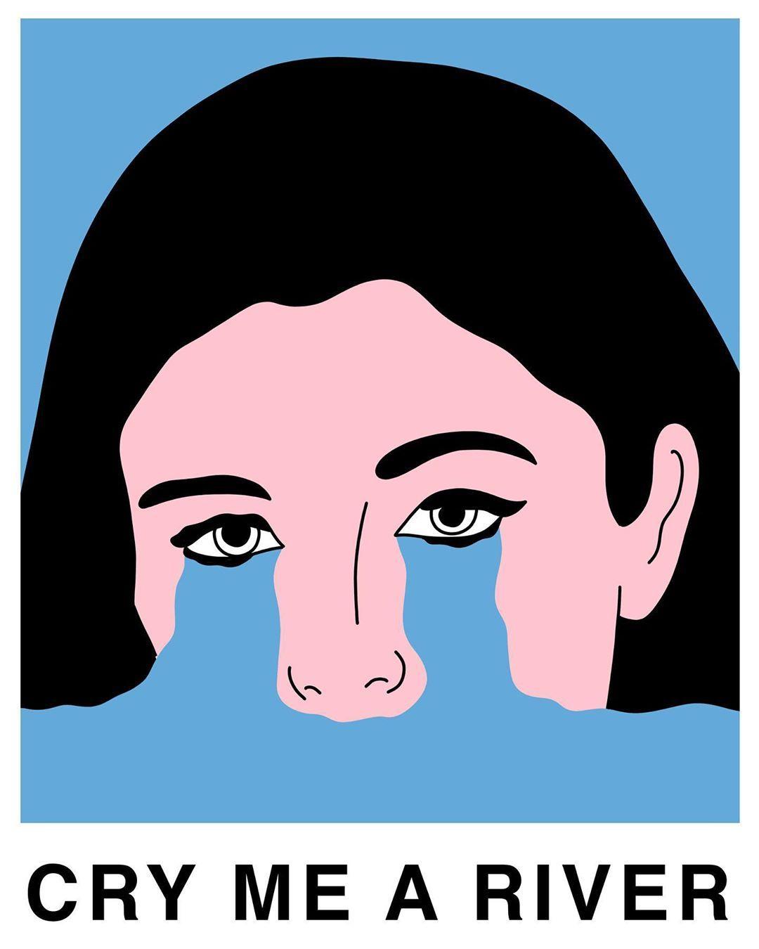 "Domien Delforge's Instagram photo: ""Cry. . . #art #instaart #illustration #artwork #dailyart #popart #artistsoninstagram #contemporaryart #modernart #instagood #print #poster…"""