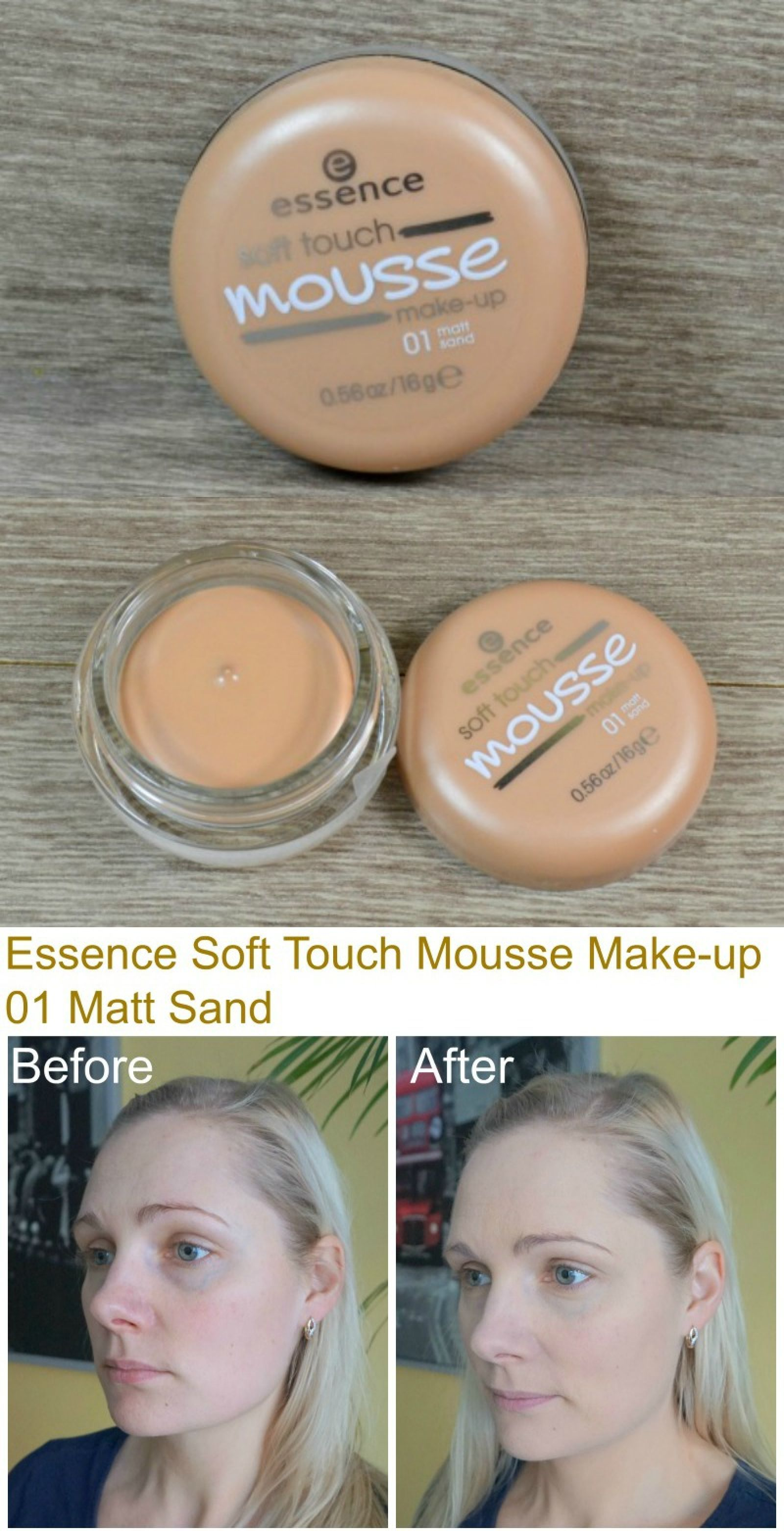 Essence Soft Touch Mousse Makeup 01 Matt Sand Essence