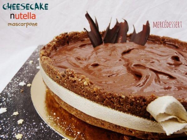 Cheesecake nutella mascarpone   Recette dessert, Dessert ...