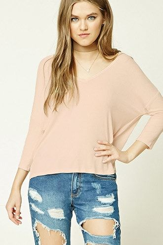 426ba8459df194 Boxy Ribbed Knit Top | Products | Tops, Fashion, Bell sleeve top
