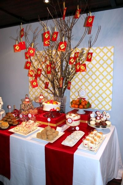 chinese new year beautiful table