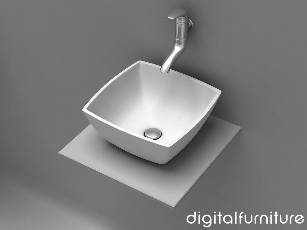 Washbasins Toilet 3D 3Ds - 3D Model