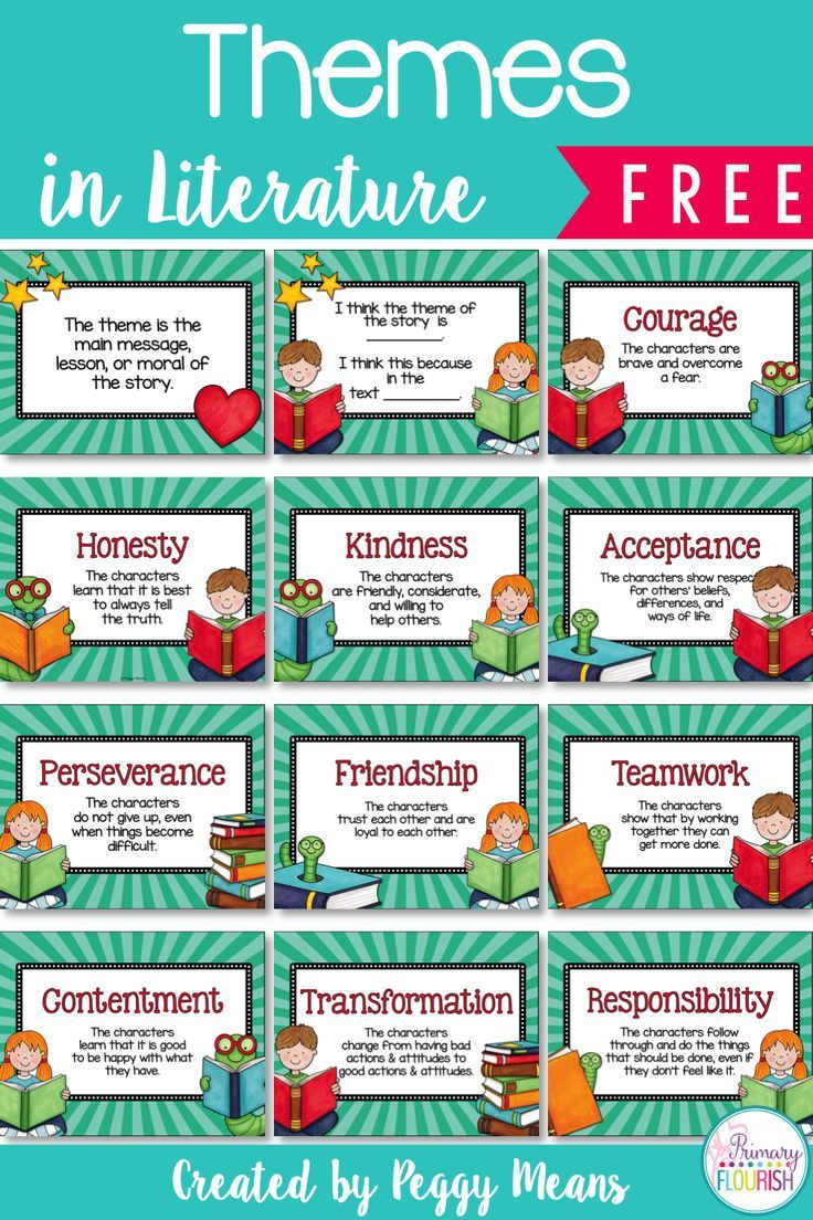 10 Themes in Literature Anchor Posters:  Studying theme helps us look deeper into the story in order to understand its meaning.