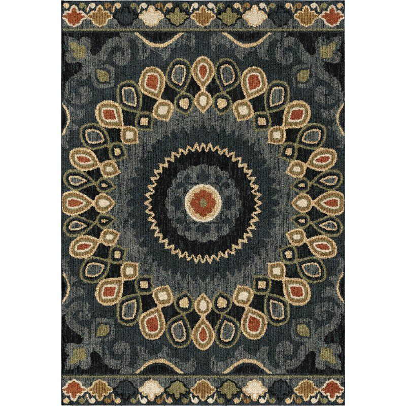 8 X 11 Large Indochina Blue Red And Green Area Rug Wild Weave
