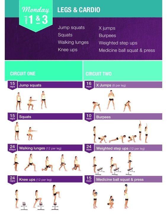 Bbg Monday Weeks 1 Amp 3 Kayla Itsines Workout Bikini Body Guide Bbg Workouts