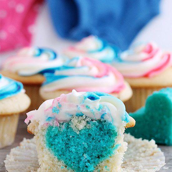 The Cutest Gender Reveal Ideas Gender Reveal Cupcakes Baby Reveal Cupcakes Gender Reveal Cake