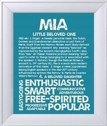 Mia my granddaughters name.   Names with meaning, Baby ...