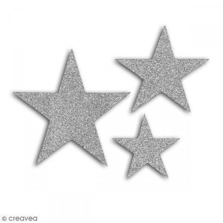 Die cuts Estrellas L'Or de Bombay - Plateado purpurina - 12 pcs - Fotografía n°2