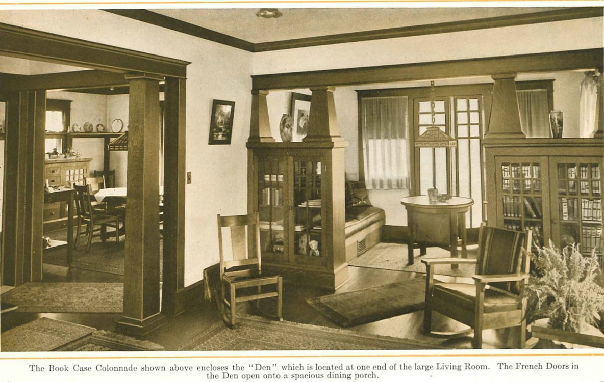 Bookcase Colonnades From 1915 Pre Finished Woodwork Brochure