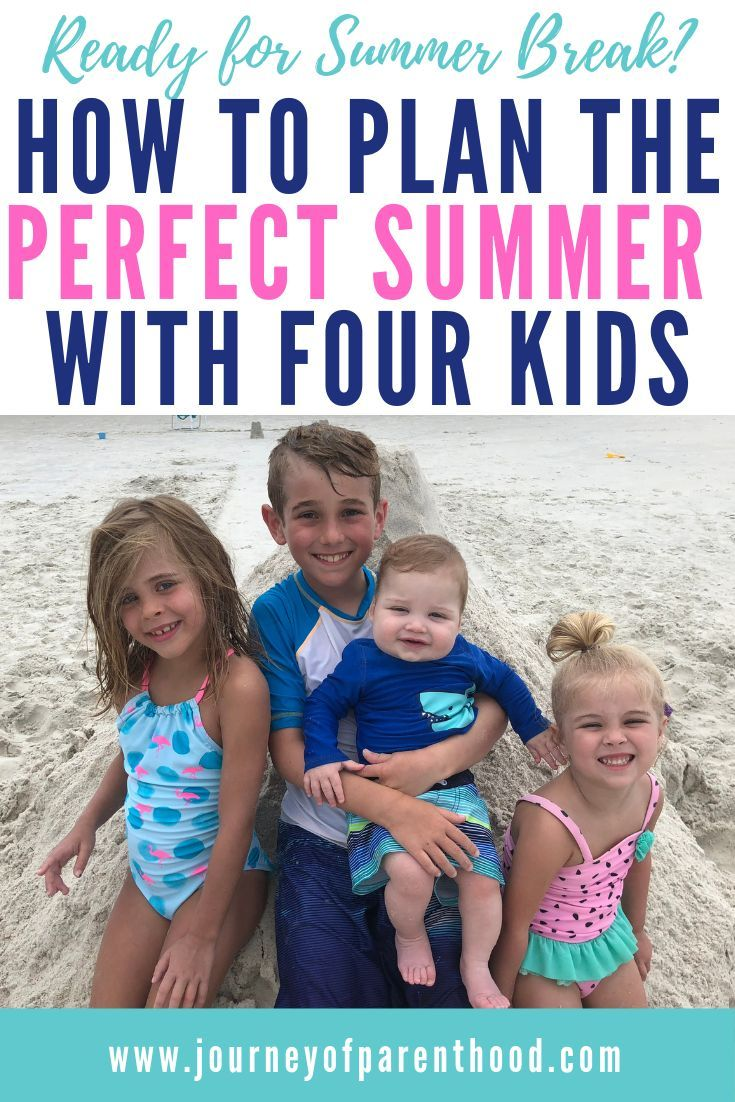 Planning a Summer Schedule for Kids: A Daily Routine for Four Kids #summerschedule