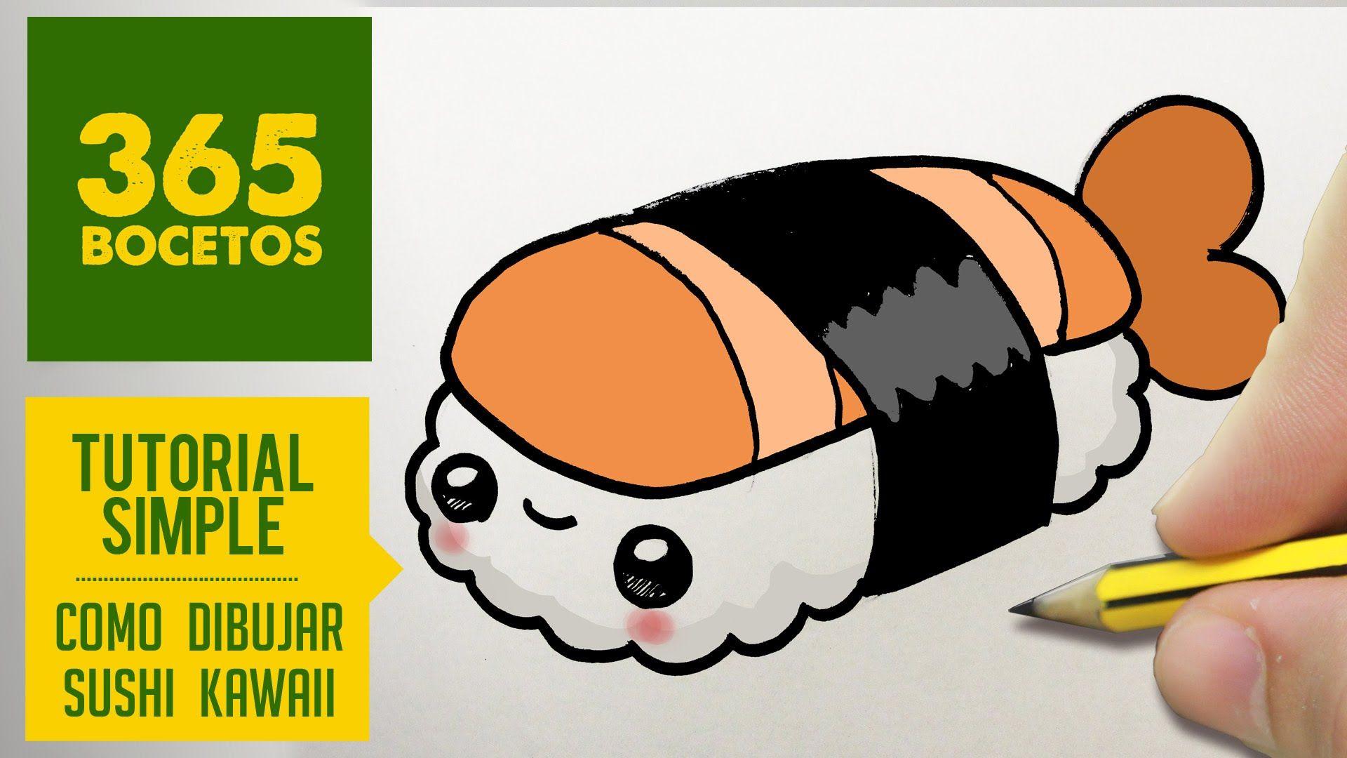 Sushi Comida Bocetos Dibujos Kawaii Dibujos Kawaii 365