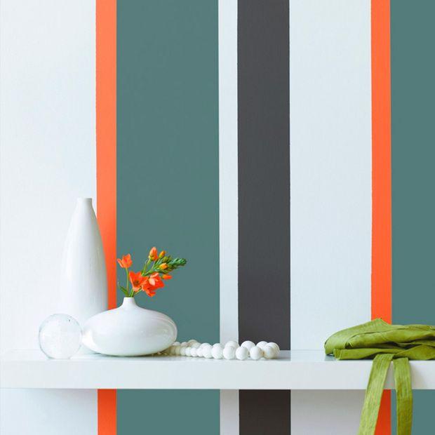 Pintar la pared con rayas de colores | DECORACION | Pinterest