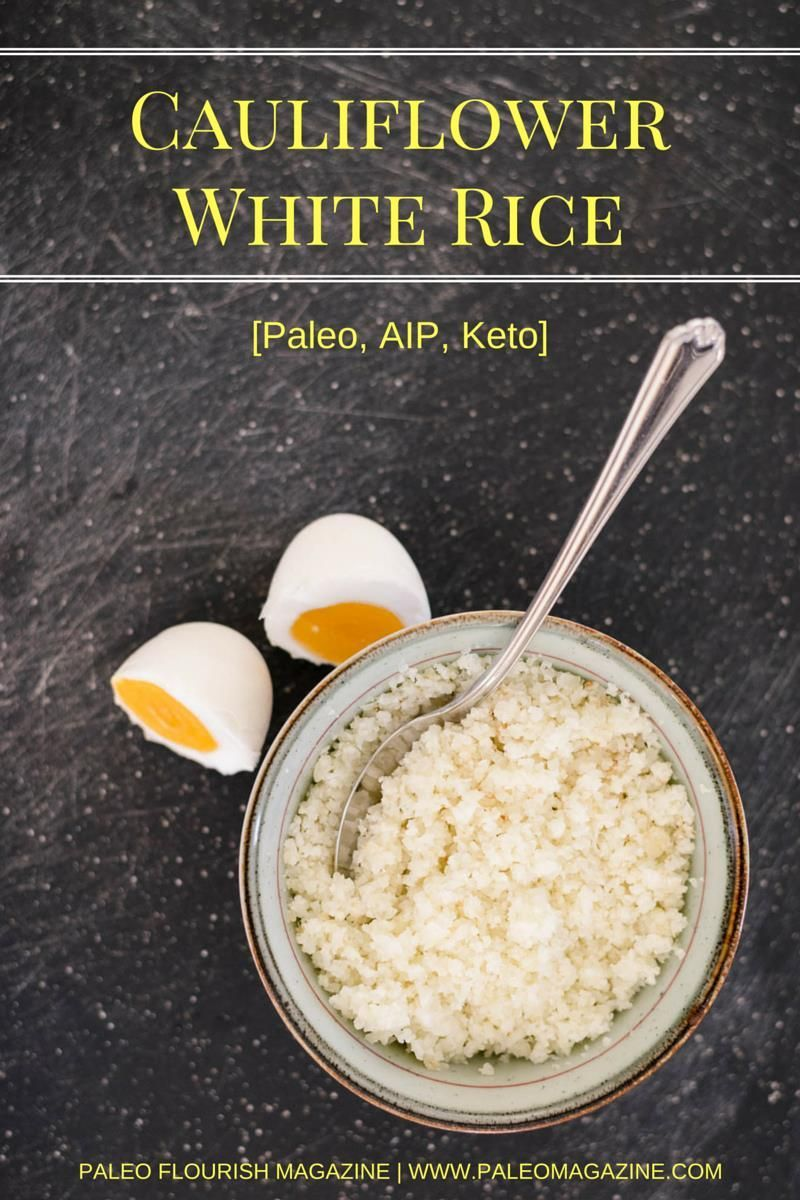 Cauliflower White Rice Recipe [Paleo, AIP, Keto] #whitericerecipes Get this easy cauliflower white rice recipe and enjoy rice without the grains. This recipe is Paleo, AIP (autoimmune-friendly), and Keto-friendly. #whitericerecipes