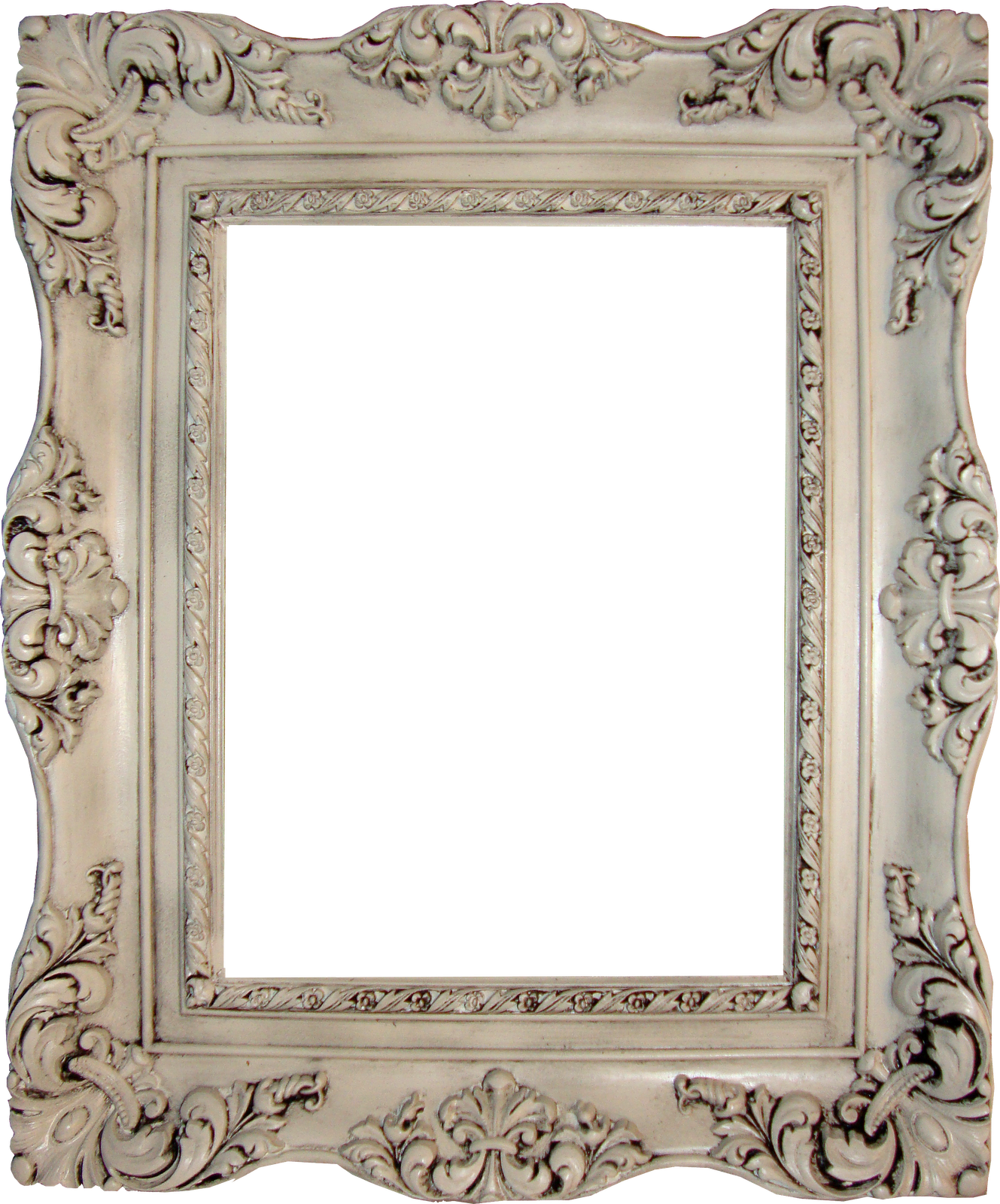 picture frames - try thrift stores and yard sales and then paint them ...