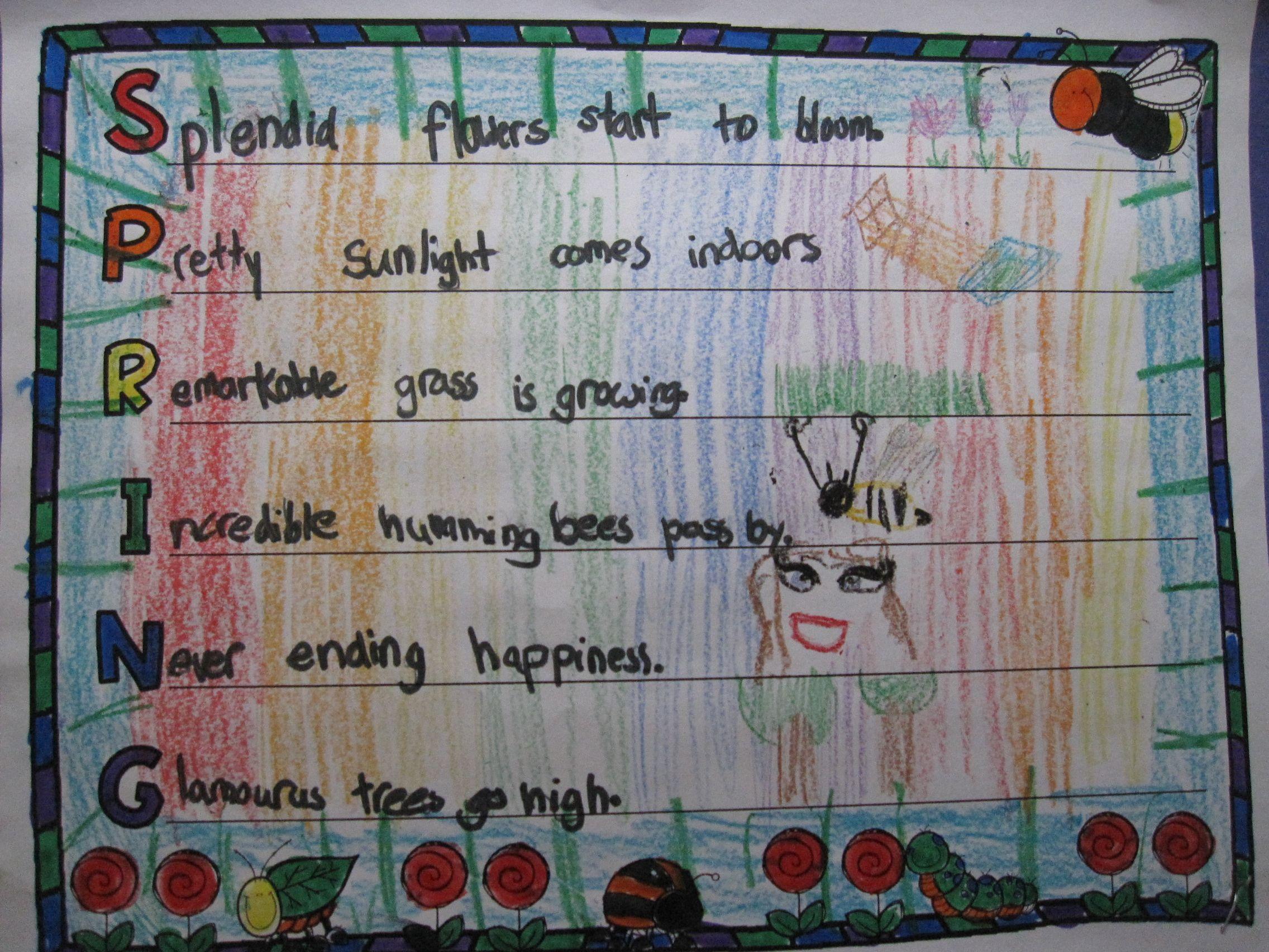 Acrostic Poem Paper EDITABLE Templates