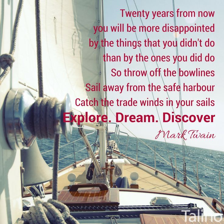 Charming Life Pattern Mark Twain Quote 20 Years From Now