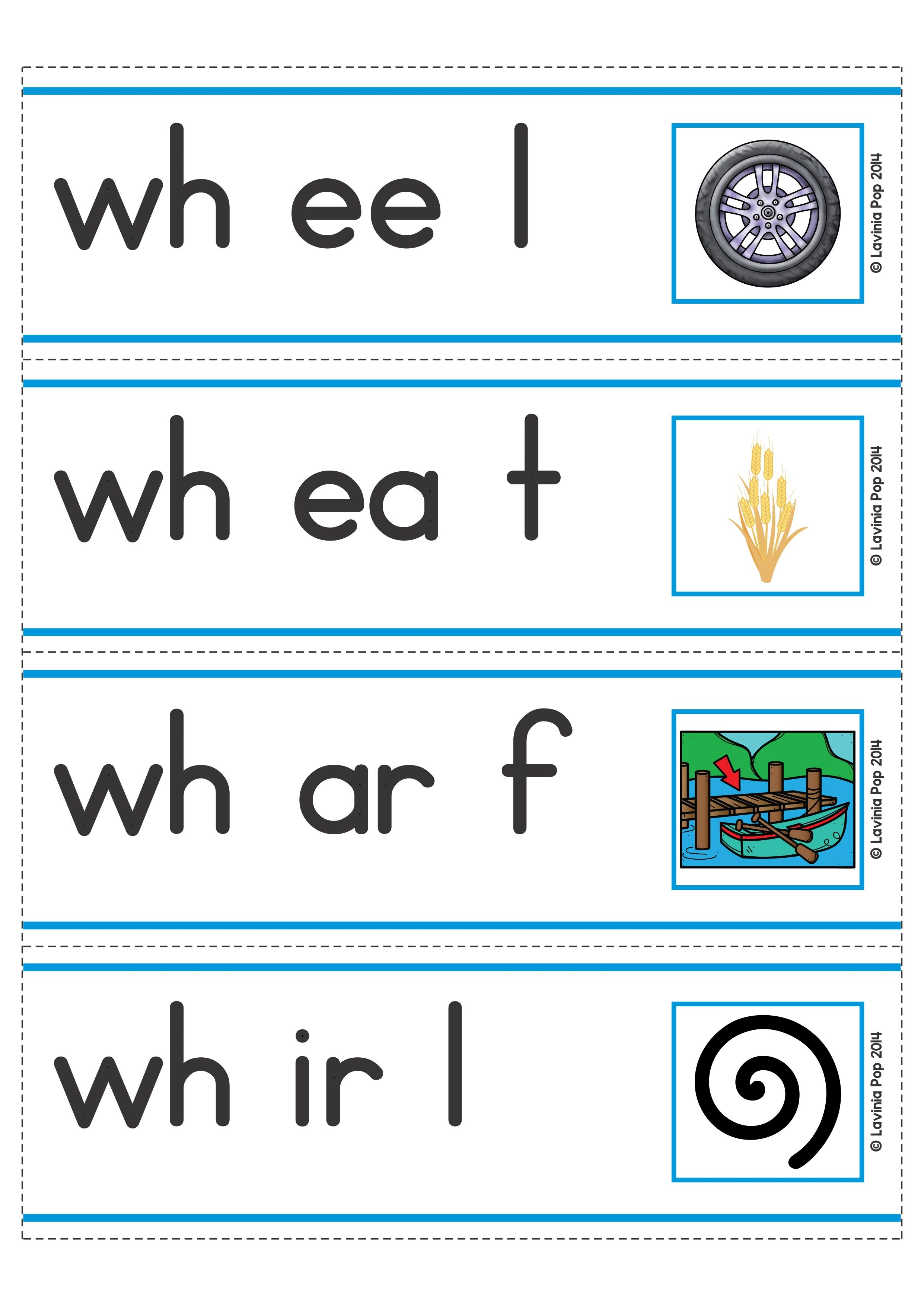 hight resolution of FREE Digraph WH: Phonics Word Work {Multiple Phonograms}. Word slider phoneme  segmentation reading cards.   Phonics words