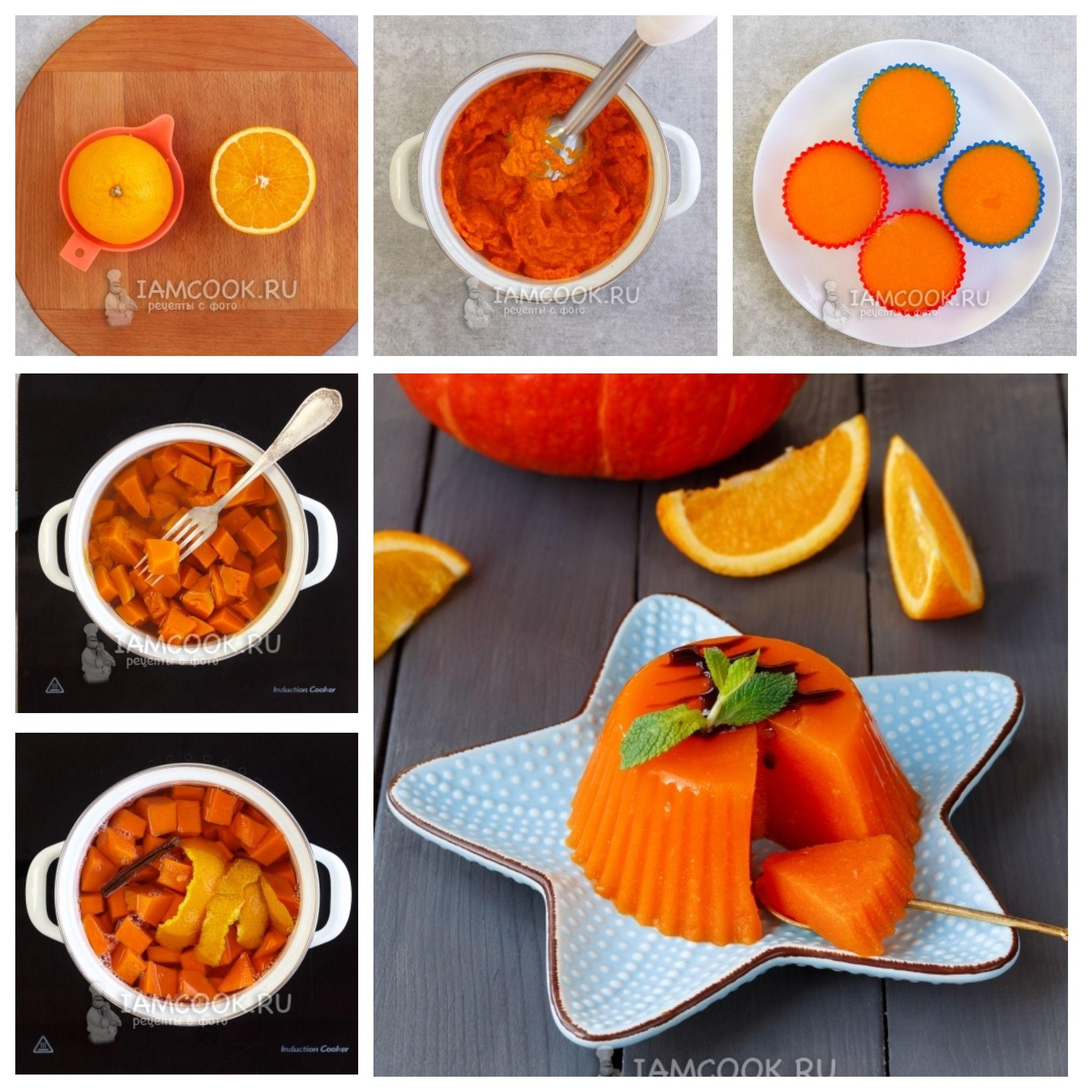 желе из апельсинового сока с желатином