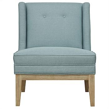 Whitewash leg Spa Fabric Astrid Chair | freedom