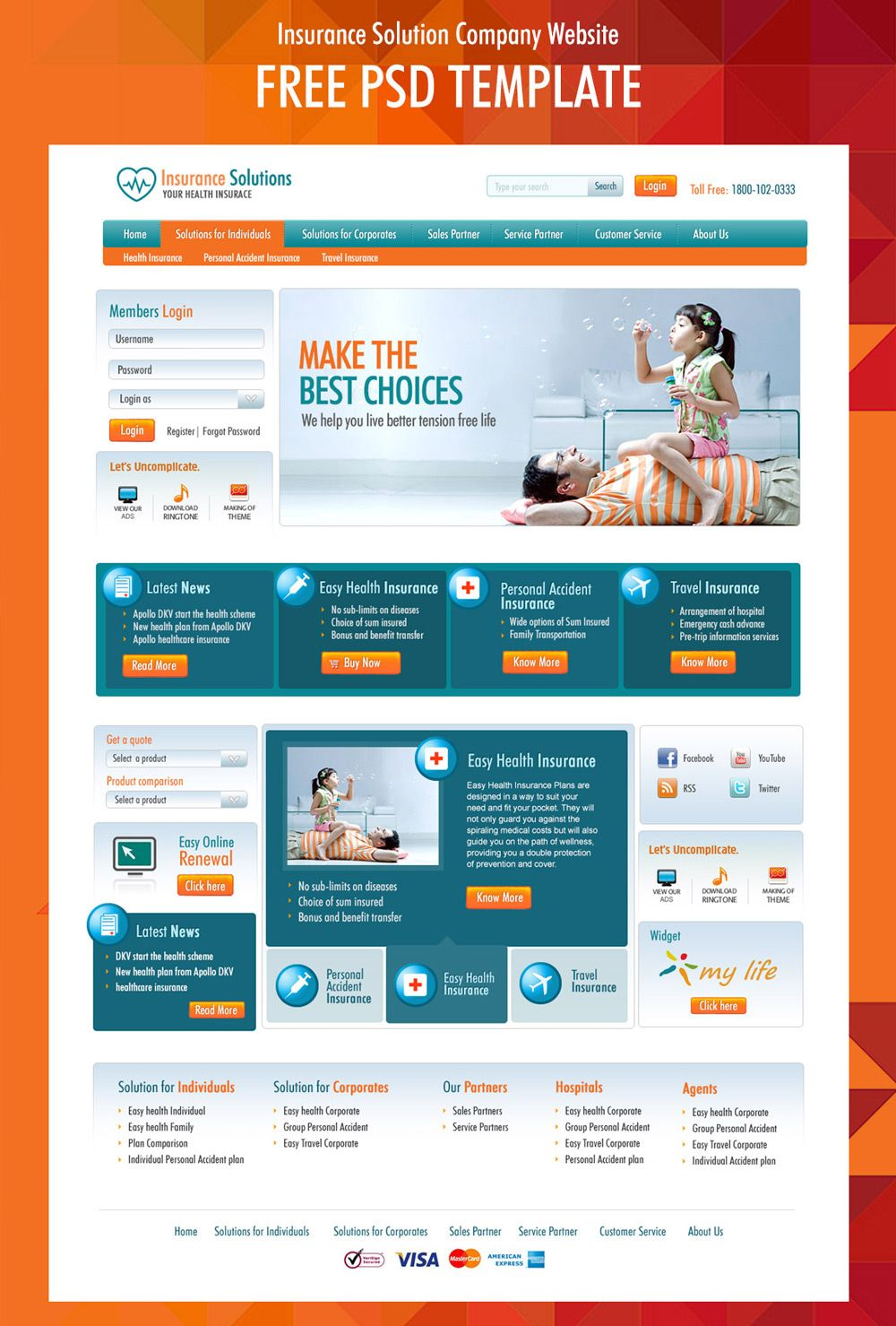 Free corporate and business web templates psd web development free corporate and business web templates psd accmission Gallery