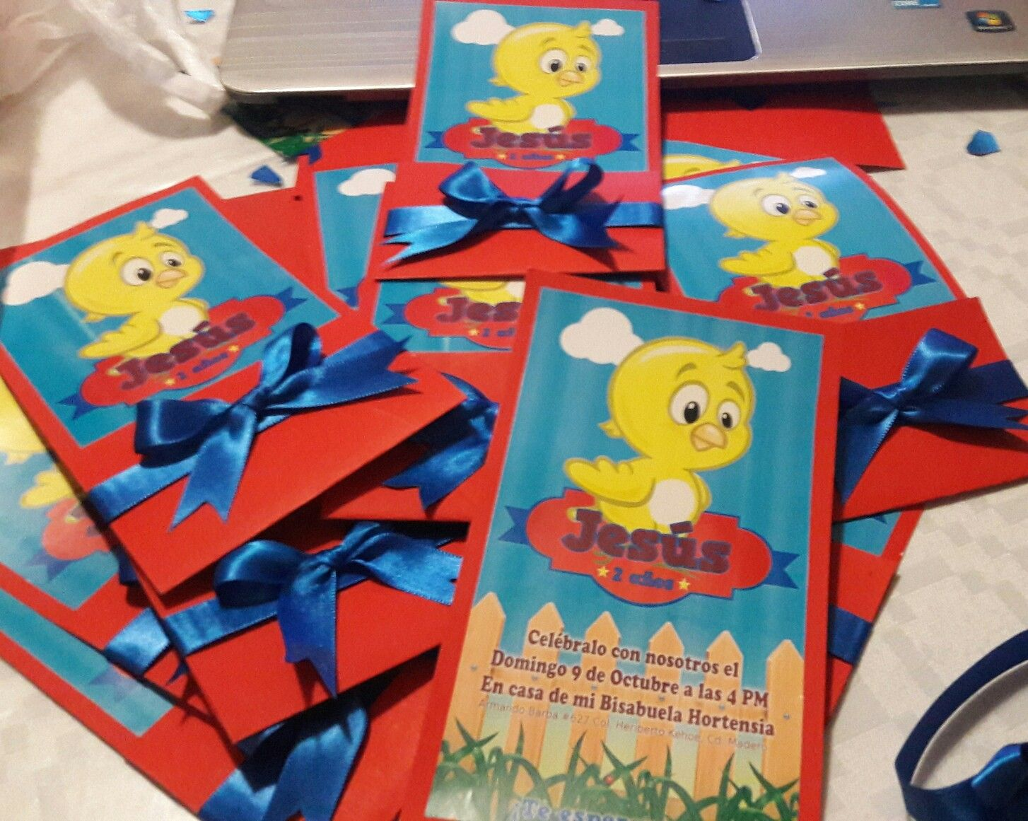 Invitaciones De Pollito Amarillito Para Fiesta Infantil