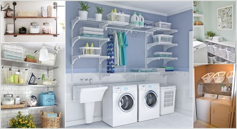 laundry room shelving ...