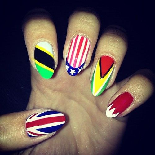 Thandi Flag Nails Manicure Pictures Fox Nails