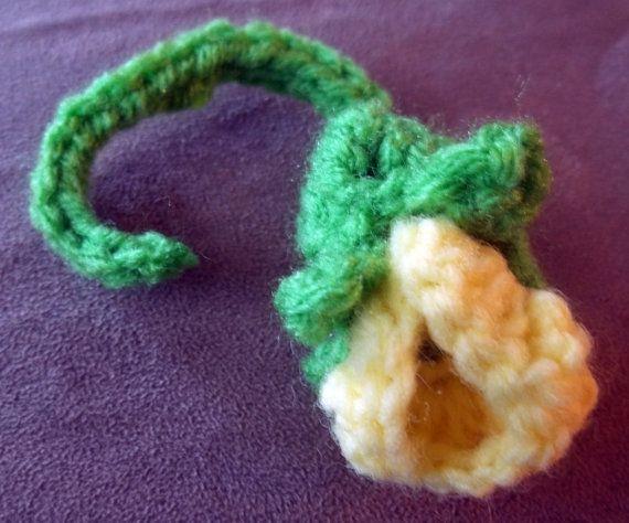 Crochet Flower Sweet Pea Applique by flameOfsilver