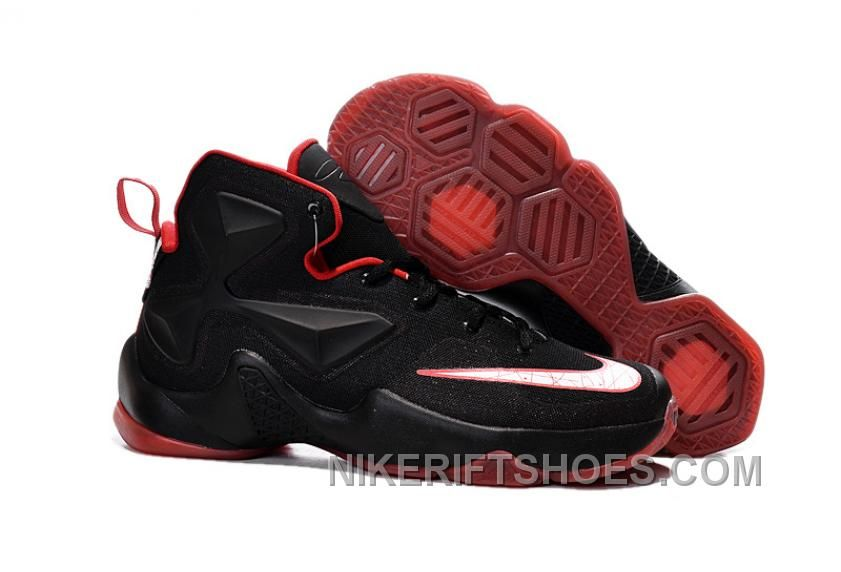 a2af9684580 Nike LeBron 13 Black Red Grade School Shoes New Style HX4jdtK