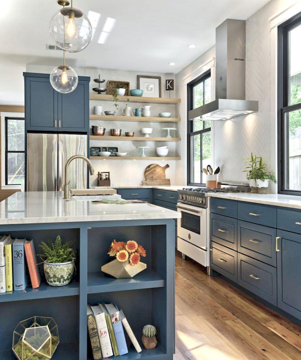 Modern Kitchen Makeover: 56 Modern Farmhouse Kitchen Cabinet Makeover Design Ideas
