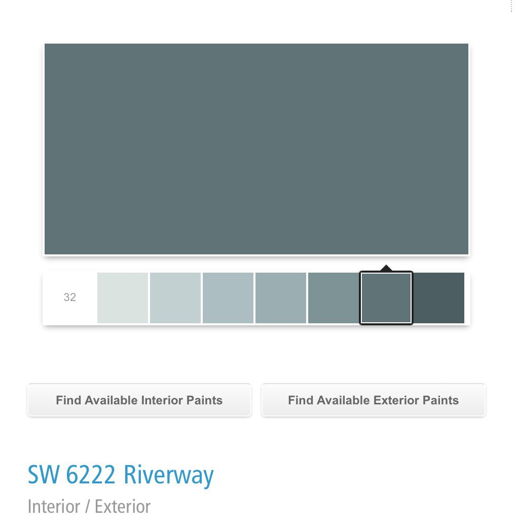 Sherwin Williams SW Riverway 6222 | For the Home | Pinterest